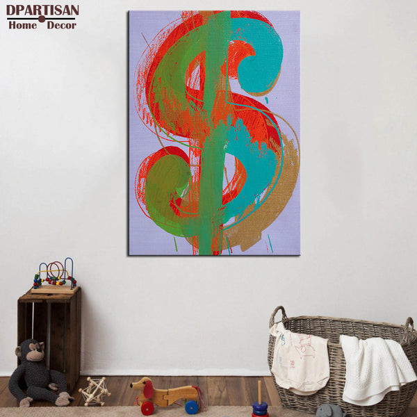 DPARTISAN study pop dollar arts wall pictures oil painting print canvas top idea decor wall art for wall painting no frame