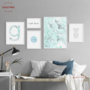 900D Posters And Prints Wall Art Canvas Painting Wall Pictures For Living Room Marble Nordic Decoration NOR029