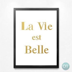 La Belle Smile English Quotes Canvas Art Print Painting Poster Wall