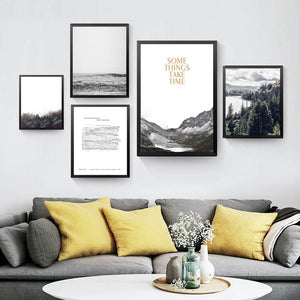 Some Things Take Time Wall Decor Painting For Room Canvas Print Poster, Nature Scenery Wall Pictures For Home Decor YT0061