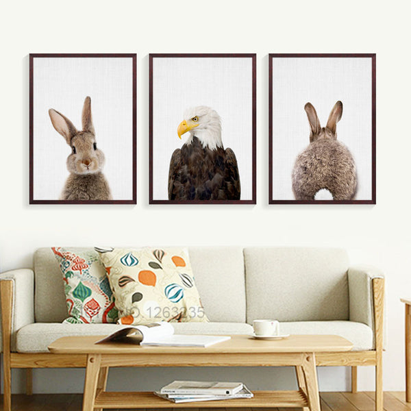 Nordic Style Poster Posters And Prints Rabbit Animal Wall Pictures For Living Room Mouse Wall Art Canvas Painting Unframed