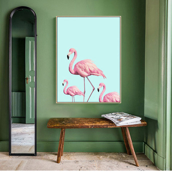 Posters And Prints Flamingo Nordic Wall Pictures For Living Room Cuadros Canvas Art Flower Wall Art Canvas Painting Unframed