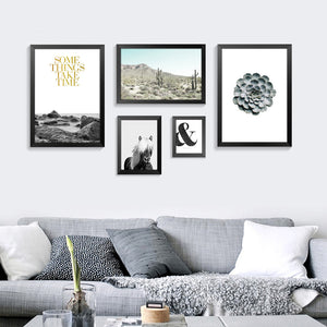 Nordic Decoration Nature And Horse Posters And Prints Wall Art Canvas Painting Wall Pictures For Living Room No Poster Frame
