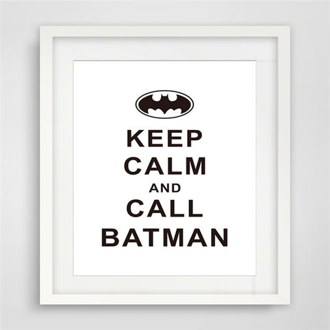 wall posters batman Posters  wall painting Canvas Art Print Wall Pictures Home Decoration picture Frame not include v16