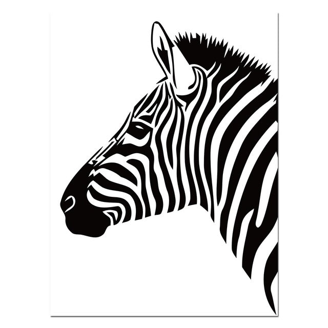 Black white animal zebra wall art canvas posters and prints canvas painting wall pictures for living