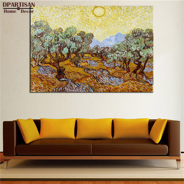 DPARTISAN Vincent Van Gogh Olive Trees arts Giclee wall Art Canvas Prints No frame wall painting for home living rooms pictures