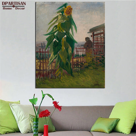 DPARTISAN Vincent Van Gogh green sun flower arts print Giclee wall Art Prints No frame wall painting for home living pictures