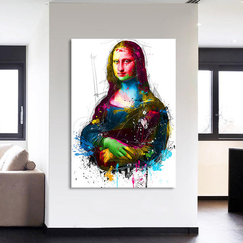 1 Piece canvas painting HD Printed colorful Mona Lisa smile Painting