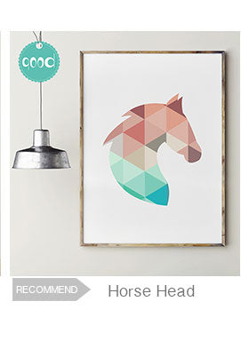 Geometric Dolphin Canvas Art Print Painting Poster,  Wall Pictures for Home Decoration, Home Decor 237-25