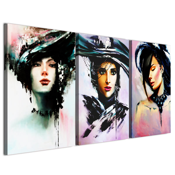 HD printed 3 piece canvas modern girls art prints Painting wall pictures for living room canvas painting Free shipping CU-2317D