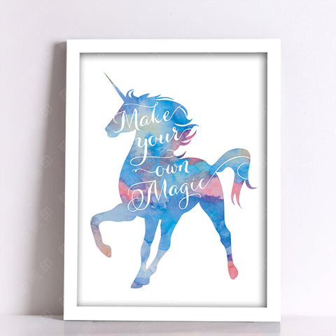 Cuadros Nordic Poster Wall Pictures For Living Room Unicorn Posters And Wall Art Kids Room Animal Canvas Art Poster Unframed