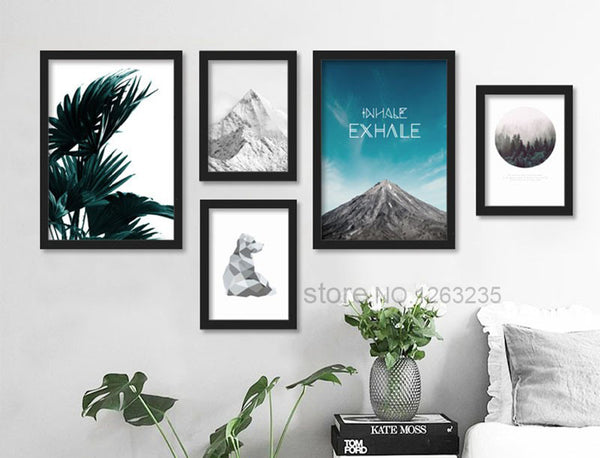 Landscape Mountain Nordic Poster Canvas Pictures For Living Room Wall Art Canvas Painting Posters And Prints Cuadros Unframed