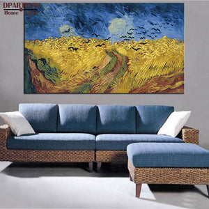 DPARTISAN Wheatfield with Crows 1890 Giclee poster vincent Van Gogh print  Wall oil Painting picture Home Decor print on canvas