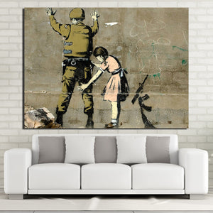 HD Printed 1 piece Canvas Painting Banks Street Graffiti Painting Room Decoration Free Shipping NY-7065C