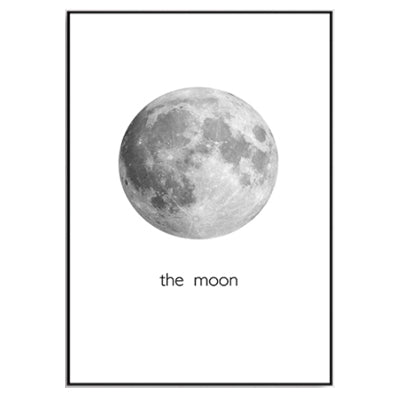 modern the moon canvas painting black white posters prints nordic wall art pictures for living room