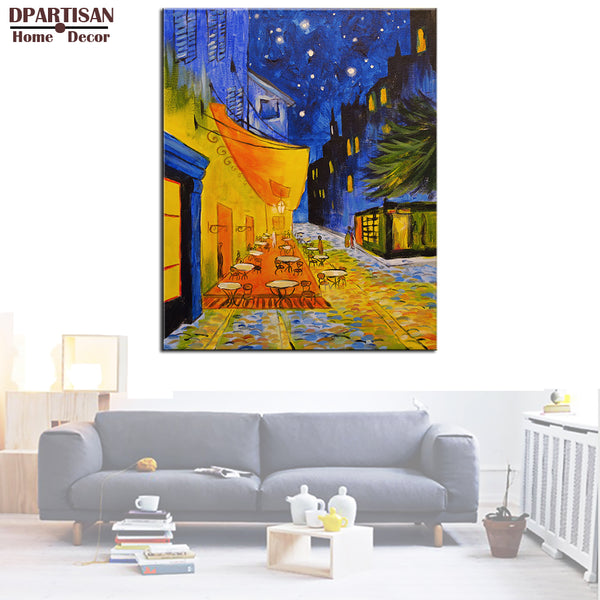 DPARTISAN Cafe Terrace at Night Giclee poster By vincent Van Gogh print  Wall Painting picture Home Decor Art Picture  Prints