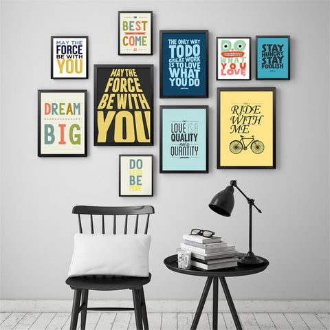 Modern Office Inspiritional English Culture Quotes Canvas Art Print Painting Poster, Wall Picture for Home Decoration FG0045