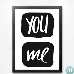nordic children room decoration paintingcreative english quotes you me hello hey greetings vintage poster painting print WT0018