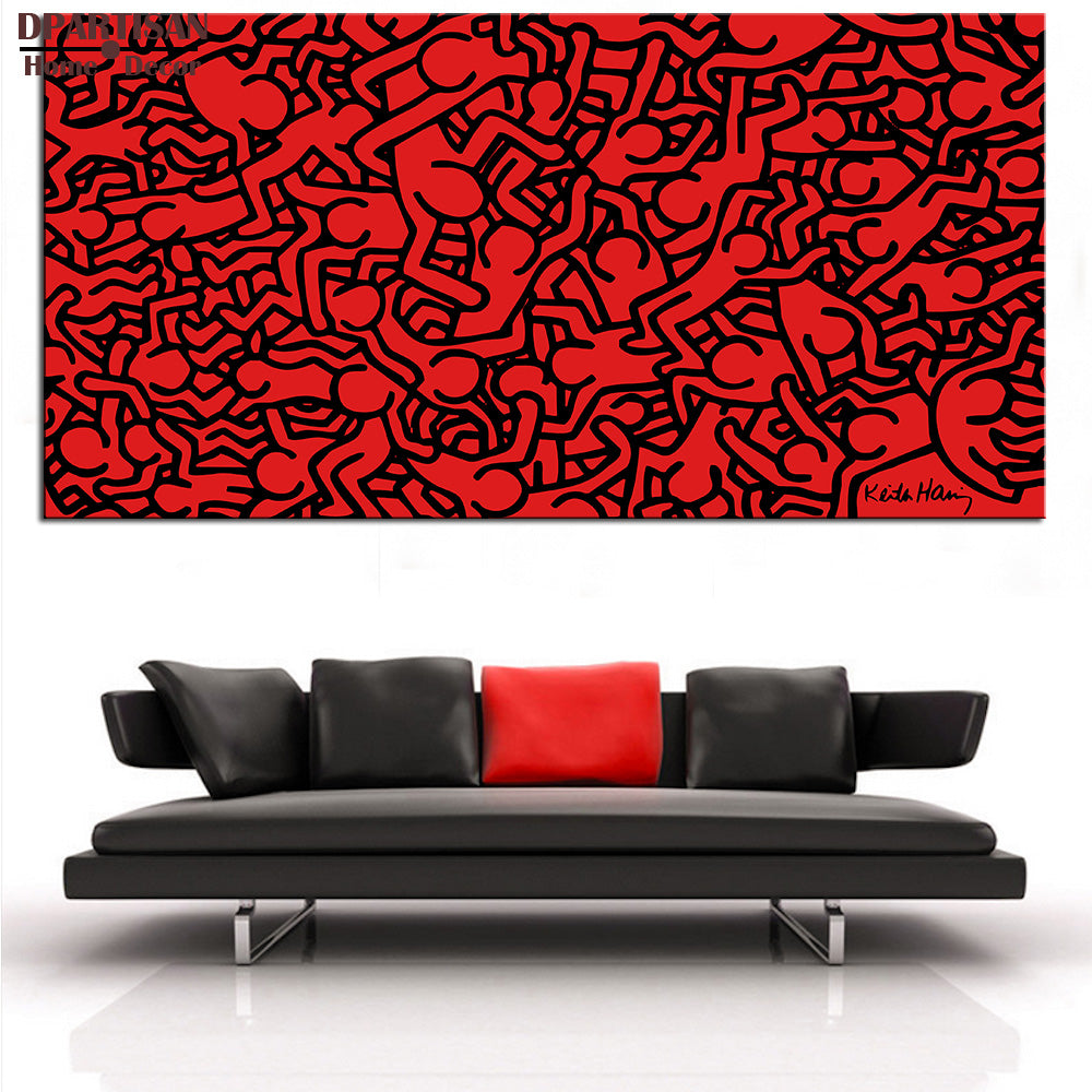 DPARTISAN Street Art Original Pop ART red poster print on canvas wall painting no frame wall pictures home decoration art