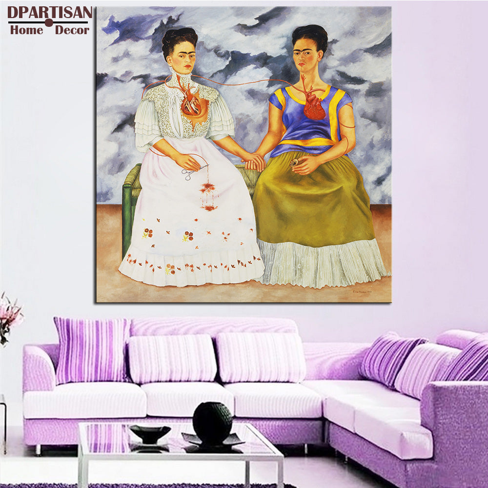 DPARTISAN Naive Art Original The Two Fridas c1939 GICLEE poster print on canvas wall painting decor wall pictures no frames