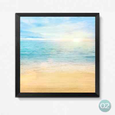 Blue Sky Wave Beach Sea Scenery Pictures Painting On Canvas Wall Art Picture for Home Decoration No Frame HD2022