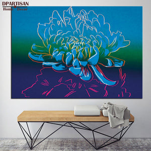 DPARTISAN flower blue By study oil painting POP Art Print  on canvas for wall decoration poster pictures for living room