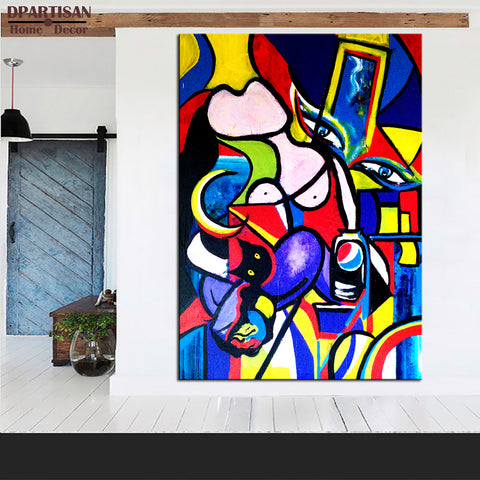 free shipment Cubism Art MARIE THERESE WALTER Estate Signed & Numbered Small Giclee P7 Giclee wall Art Abstract Canvas Prints