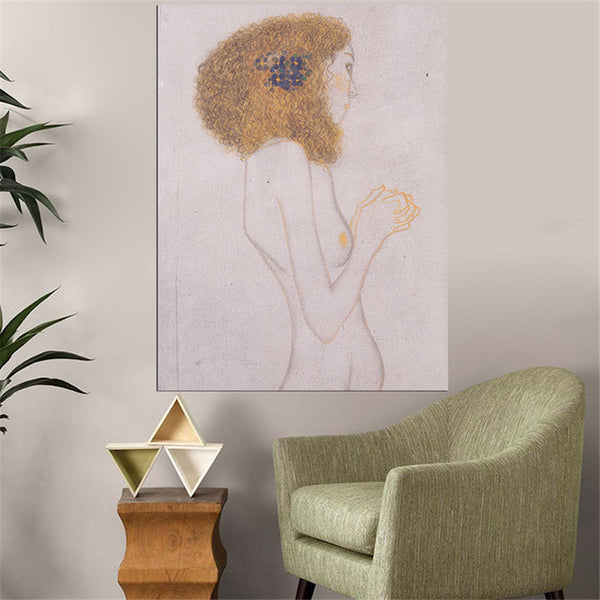 DPARTISAN oil print canvas wall art decor pictures Signora Paradiesengel Leiden Starke By Gustav klimt wall painting art