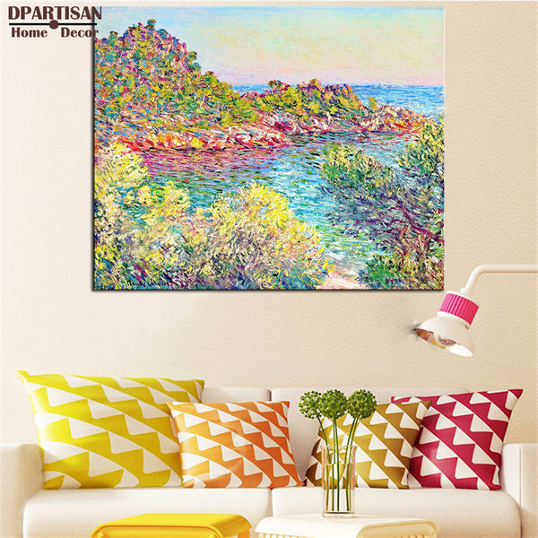 DPARTISAN Claude Monet landscape near montecarlo wall art Prints No frame wall painting wall picture living room wall paintings