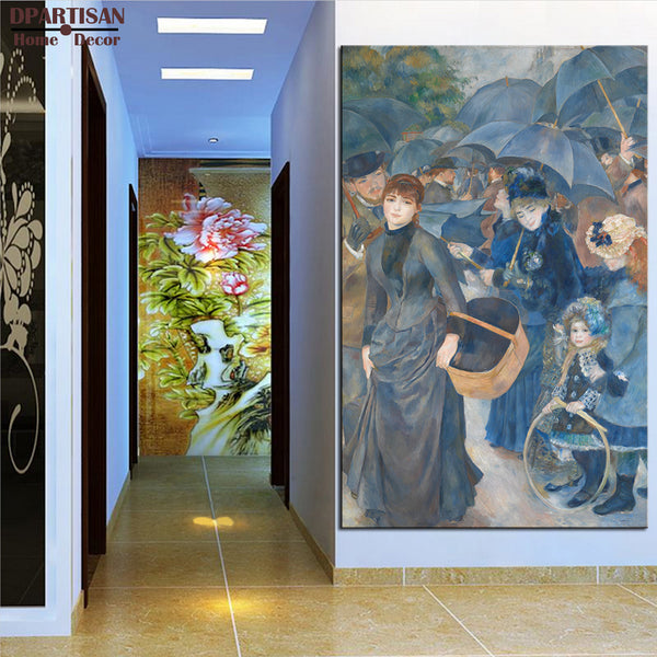 DPARTISAN Pierre Auguste Renoir The Umbrellas Giclee wall Art  Canvas Prints No frame wall painting wall picture living rooms