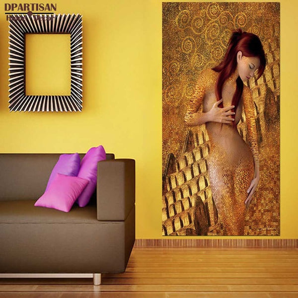 DPARTISAN oil print canvas wall art decor pictures beauty lady By Gustav klimt wall painting art no framed oil painting print