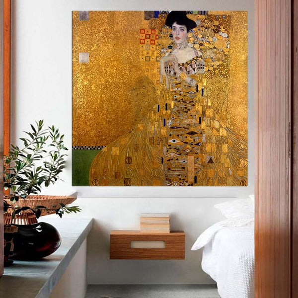 DPARTISAN oil print canvas wall art decor pictures hope Bildnis Fritza Riedler By Gustav klimt portrait wall painting no frame
