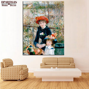 DPARTISAN Pierre Auguste Renoir The Two Sisters Giclee wall Art  Canvas Prints No frame wall painting wall picture living rooms