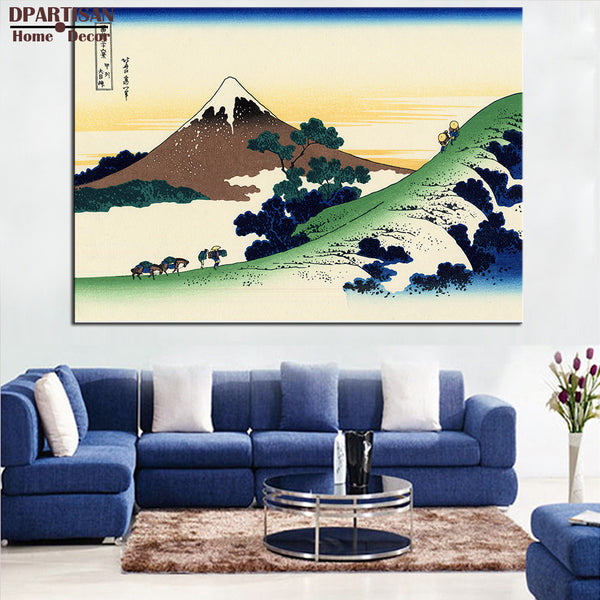 DPANRTISN ART POSTER katsushika hokusai 36 Views of Mount Fuji 9 Inume Pass in the Kai Province CANVAS print WALL OIL PAINTING