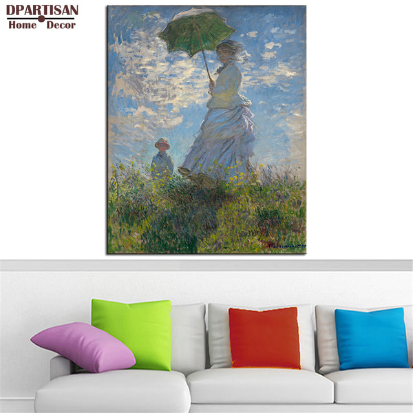 DPARTISAN Claude Monet  Woman with a Parasol wall art Prints No frame wall painting wall picture living room wall paintings