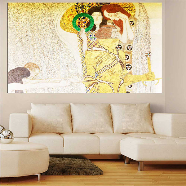 DPARTISAN oil print canvas wall art decor pictures serigrafia Secession Musik Nagender Kummer By Gustav klimt wall painting art