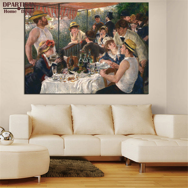 DPARTISAN PIERRE AUGUSTE RENOIR Luncheon of the Boating Party print CANVAS WALL ART PRINT ON CANVAS OIL PAINTING NO FRAME ARTS