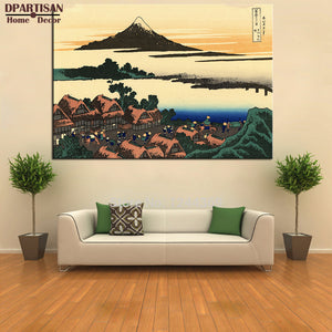 DPARTISAN dawn at isawa in the kai province poster Painting By KATSUSHIKA HOKUSAI art prints on canvas for home decoration Arts