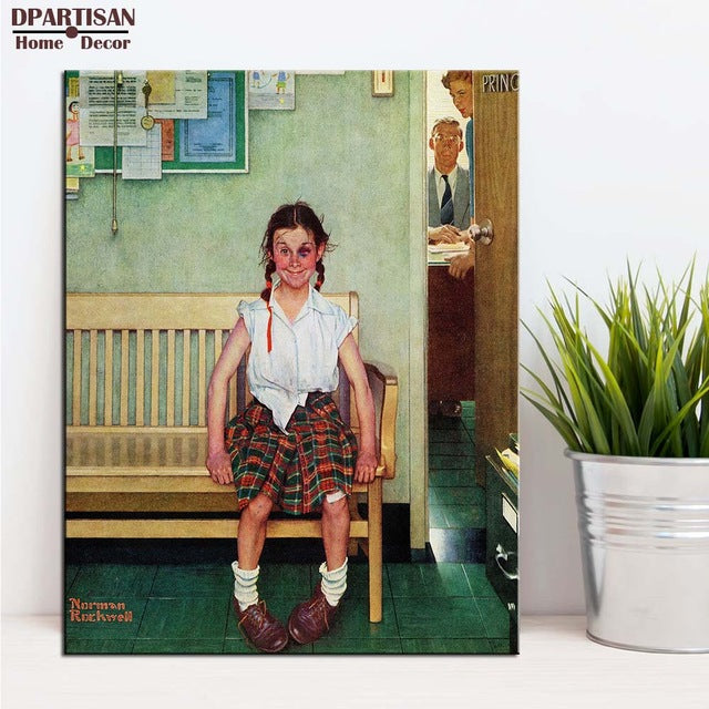 DPARTISAN wall art print picture shiner going out tring lover but wall painting decoration By Norman Rockwell No frame Painting
