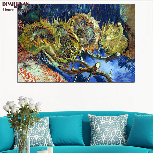DPARTISAN Vincent VanGogh Blumen in blauer Giclee wall Art Canvas Prints No frame wall painting for home living rooms pictures
