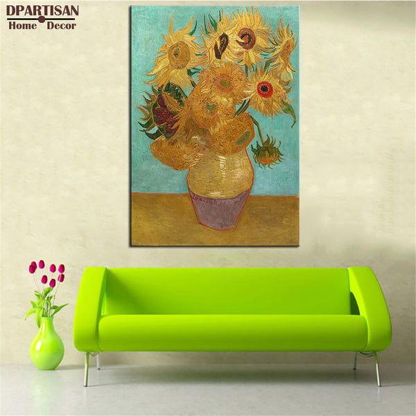 DPARTISAN Sunflowers c1888 Giclee  poster By vincent Van Gogh print  Wall oil Painting picture print on canvas For living room