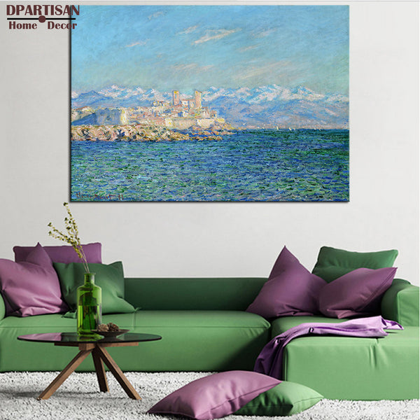 DPARTISAN Claude Monet  antibes afternoon effec landscape wall art Prints No frame wall painting wall picture living room art