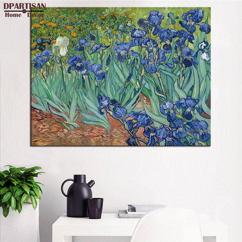 DPARTISAN Vincent Van Gogh  Irises 1889 Giclee wall Art Abstract Canvas Prints No frame wall painting for home living pictures