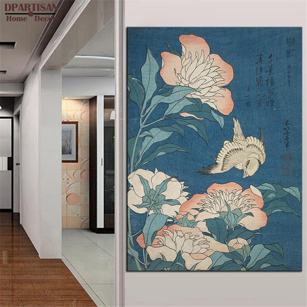 DPARTISAN Katsushika Hokusai Red Fuji from the series flowers art Prints No frame wall painting wall picture living room art