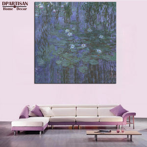 DPARTISAN Claude Monet Blue Water Lilies wall pictures Giclee wall Art classic Canvas Prints No frame wall painting home decor