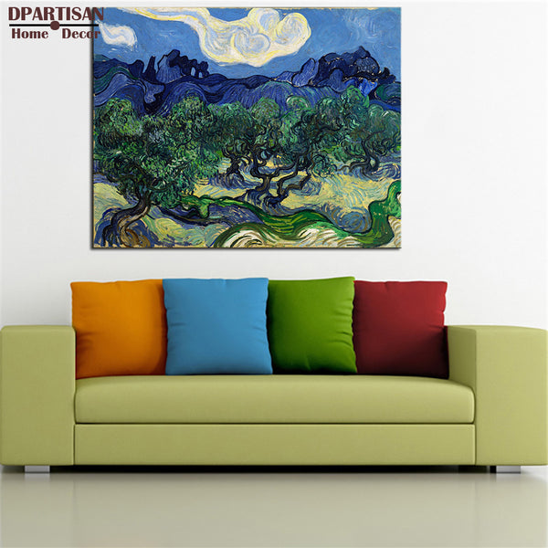 DPARTISAN VINCENT VAN GOGH Van Gogh The Olive Trees print CANVAS WALL ART PRINT ON CANVAS OIL PAINTING NO FRAME WALL PAINTING