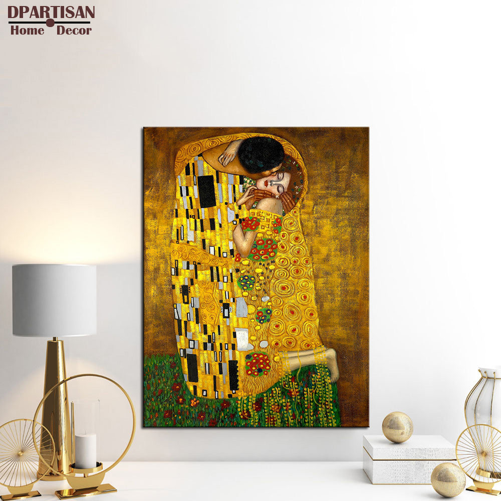 DPARTISAN Gustav Klimt printed oil painting on canvas wall art prints picture living room home decoration or hotel free shipping