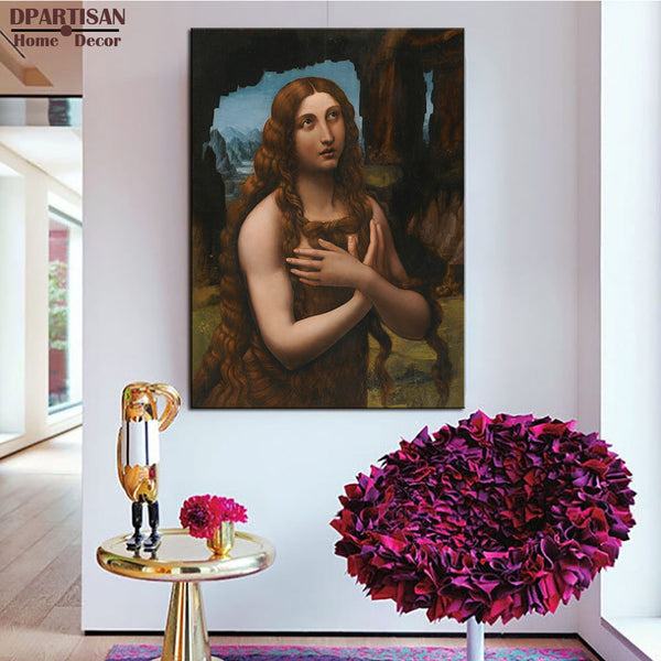 DPARTISAN Leonardo da Vinci portrait of woman wall art No frame print wall painting  home decoration print wall pictures