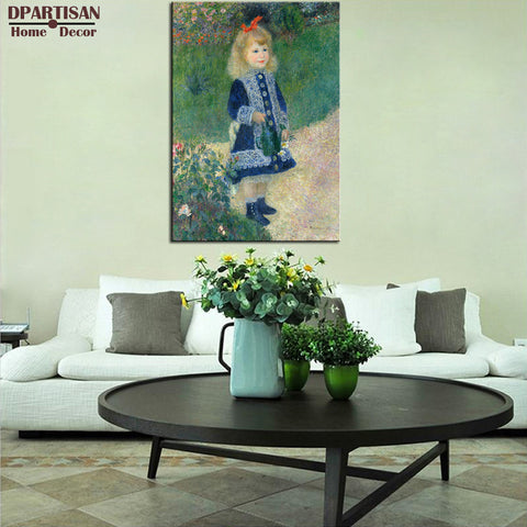 DPARTISAN Pierre Auguste Renoir A Girl with a Watering Giclee wall Art  Canvas Prints No frame wall painting wall picture