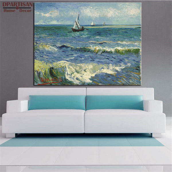 DPARTISAN Vincent Van Gogh boat rivers pictures print Giclee wall Art Prints No frame wall painting for home living pictures
